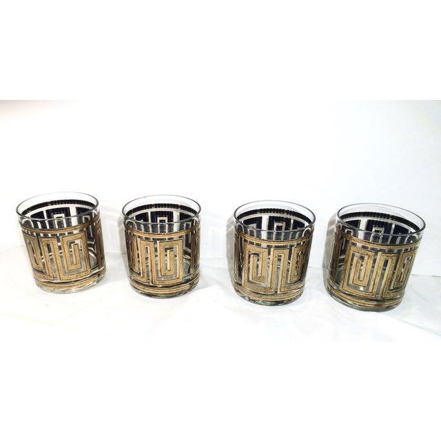 Image of Culver Greek Key Old Fashioned Glasses - Set of 4