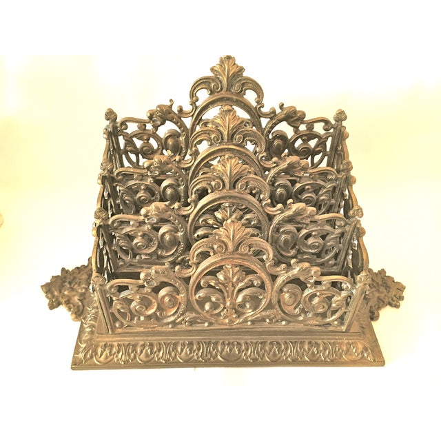 Victorian Brass Letter Holder - Image 2 of 7