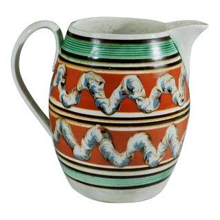 Creamware Double Earthworm Mocha English Pottery Jug