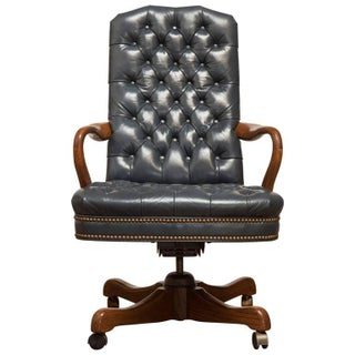 Schafer Brothers Tufted Leather Desk Chair