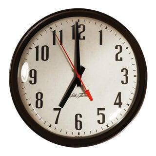 Seth Thomas Mid-Century Modern Wall Clock