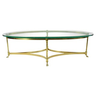 La Barge Brass and Glass Coffee Table