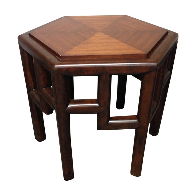 New Bamboo Hexagon Side Table - Image 1 of 10