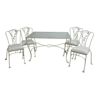 Vintage Iron Outdoor Patio Set