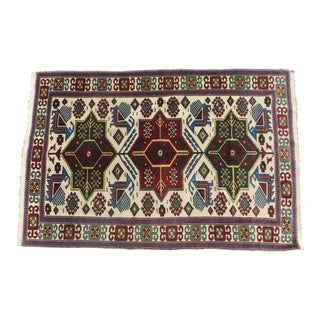 Traditional Caucasian Colored Rug - 4' x 6'