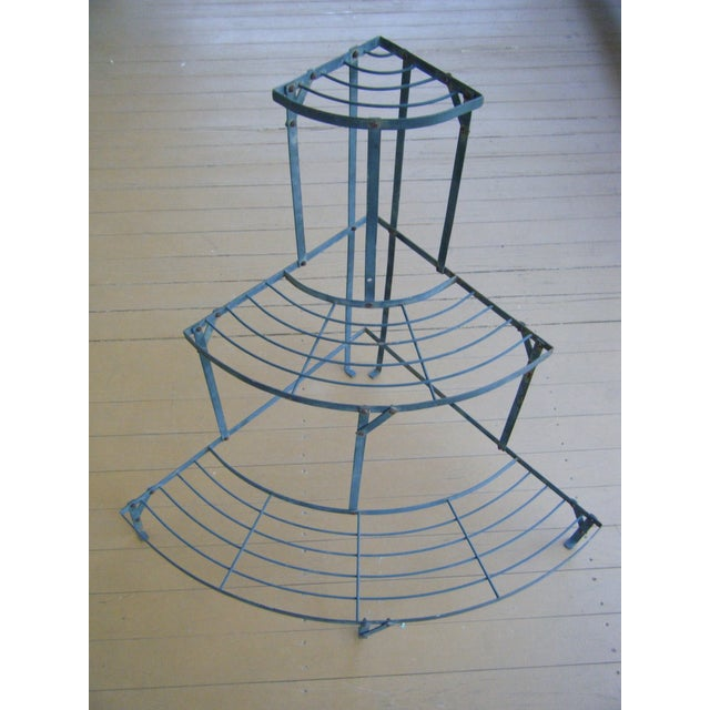 Old French Metal 3 Tier Garden Etagere Plant Stand Chairish