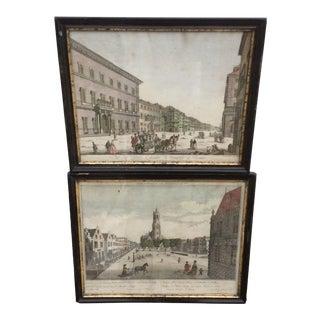18th Century Street Scene Engravings - A Pair