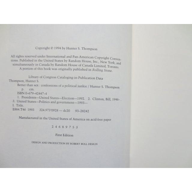 Image of Better Than Sex, Hunter S. Thompson, 1st