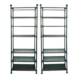 Directoire Style Shelves - A Pair