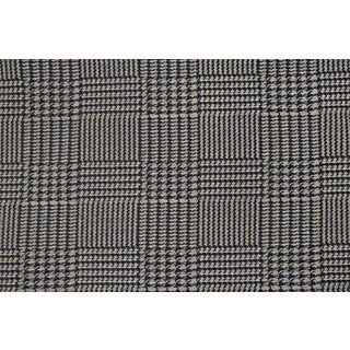 Ralph Lauren Houndstooth Plaid Blue Fabric - 3 Yards