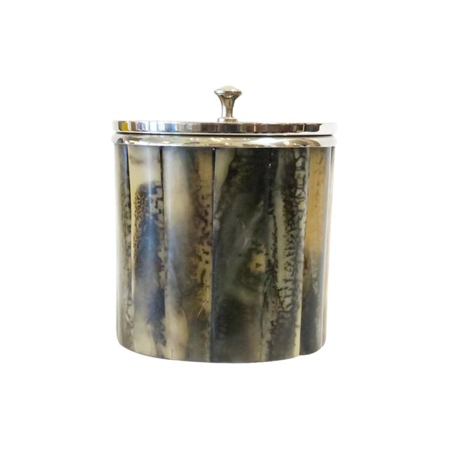 Horn & Silver Ice Bucket - Image 1 of 5