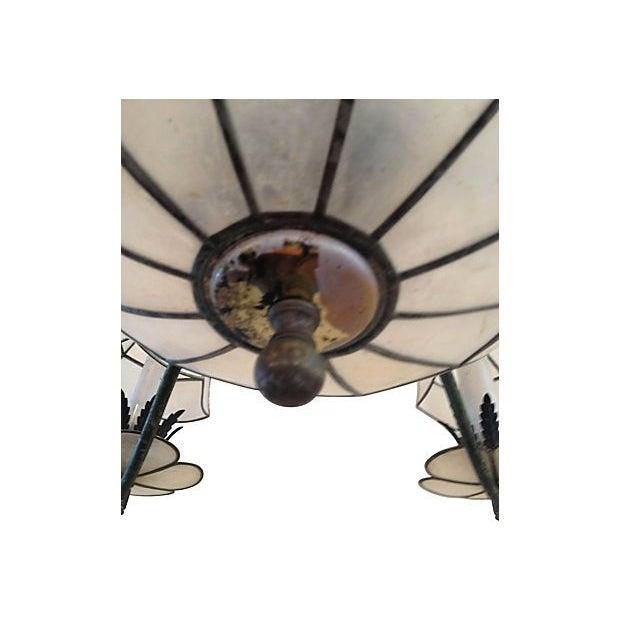 Vintage Capiz Shell Chandelier - Image 2 of 4