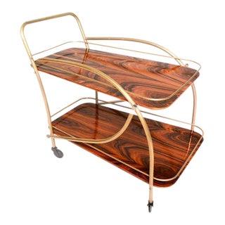 Brazilian Rosewood Double Deck Service Cart