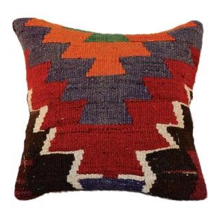 Vintage Handmade Wool Kilim Pillow