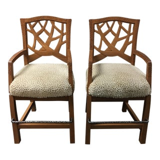 Martin Pierce Hedgerow Counter Stools - A Pair