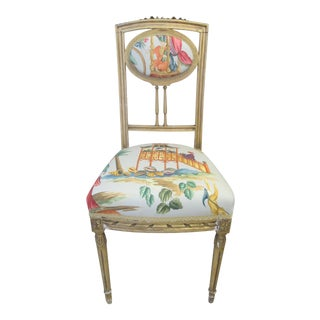 Gilded Chair With Chinoiserie