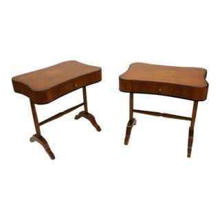 Biedermeier Style Side Tables or Nightstands - A Pair
