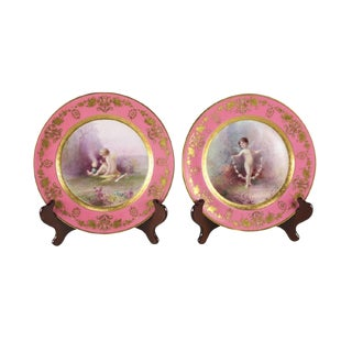 Lenox for Tiffany & Co. Porcelain Cabinet Plates - A Pair