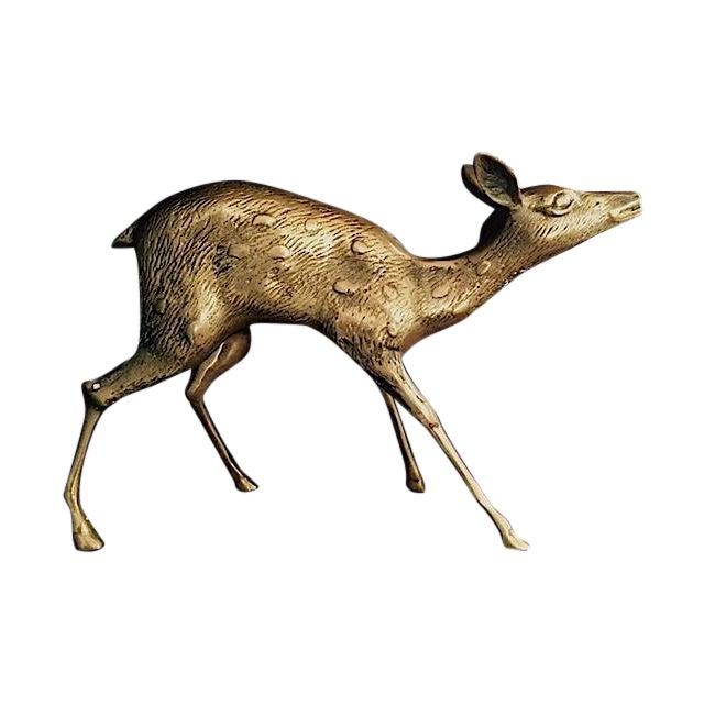 Large Brass Deer - Image 1 of 5