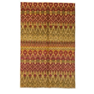 """Ikat Hand Knotted Area Rug - 6' X 9'1"""""""