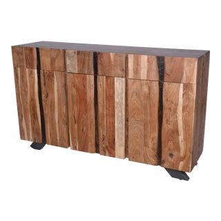 Acacia Wood Live Edge Storage Sideboard