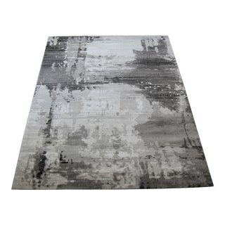 "Abstract Art Gray Runner - 2'8"" x 5'"