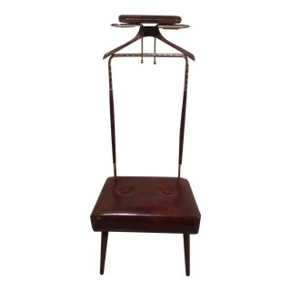 Mid-Century Coat Stand With Stool