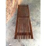 Image of Mid-Century Slat Bench Coffee Table
