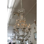Image of French Wooden Ball Crystal Chandelier