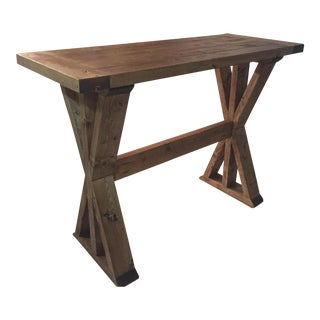 Custom Crafted X-Style Entry Table
