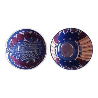 Vintage Aluminia Danish Royal Copenhagen Bowls - A Pair