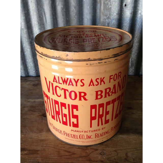 Vintage Eat Economy Pretzels Container - Image 2 of 6