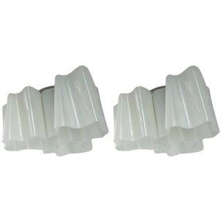 Artemide Logico Triple Nested Semi-Flush Mounts - A Pair