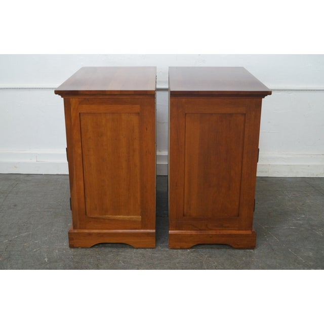 Image of Michaels Furniture Traditional Solid Cherry Nightstands - A Pair