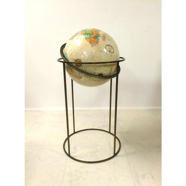 Vintage Paul McCobb Globe on Brass Stand - Image 6 of 6