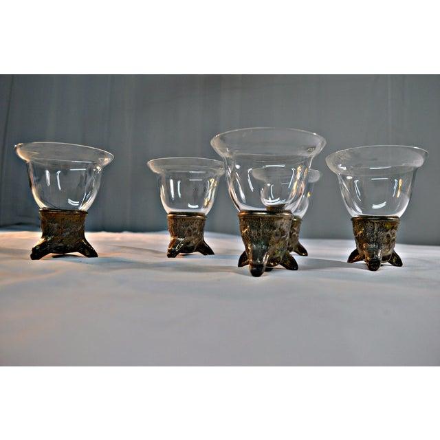 Wolf Head Stirrup Goblets - Set of 5 - Image 3 of 10