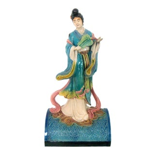 Chinese Guanyin Hand-Painted Figurine