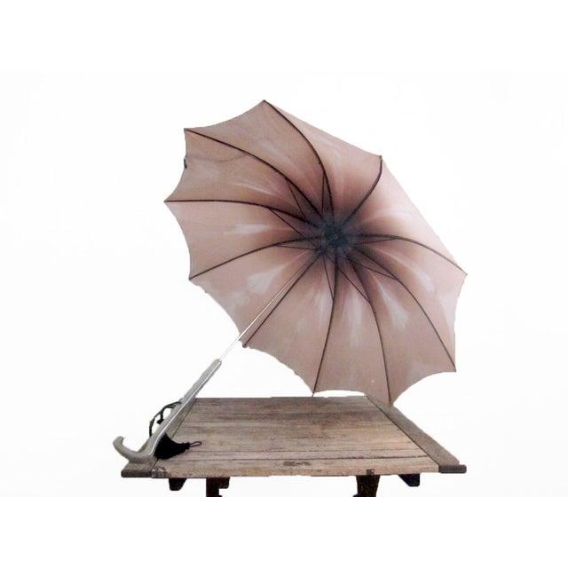 Image of Vintage 1950s Purple Pink Ombre Umbrella
