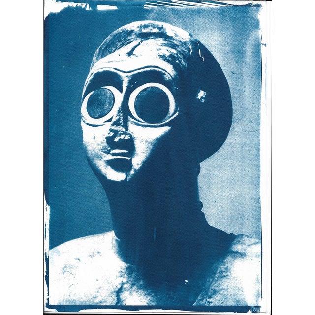 Image of Sumerian Hollistic Sculpture Cyanotype Print