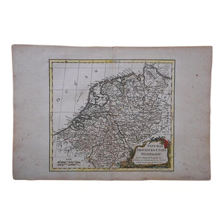 18th C. Antique Map of Netherlands & Westphalia
