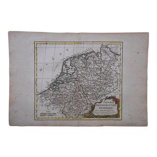 18th C. Antique Map of Netherlands & Westphalia