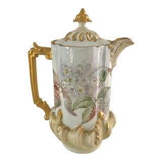 Antique French Porcelain Cocoa Pot