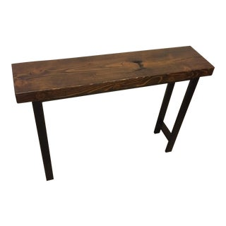 Reclaimed Douglas Fir Wood Entry Table