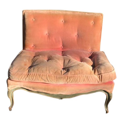 Image of Louis XV Style Petite Painted Settee