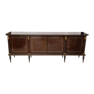 A French Empire Style Palisander and Bronze Mounted Credenza, attr. to Jansen