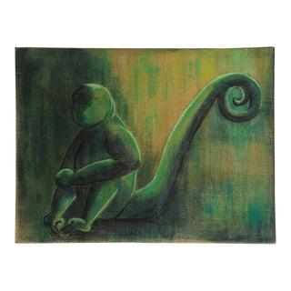 Vintage Modernist Monkey Painting