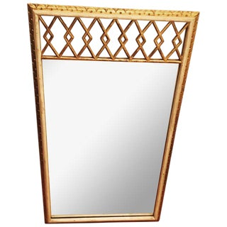Vintage Italian Gilt Wood Mirror