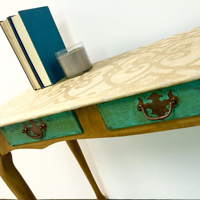 Image of Hand-Painted Sofa Table
