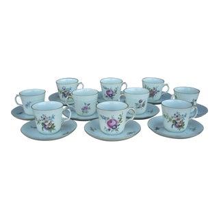 Royal Copenhagen Demitasse Cups & Saucers - Set of 10