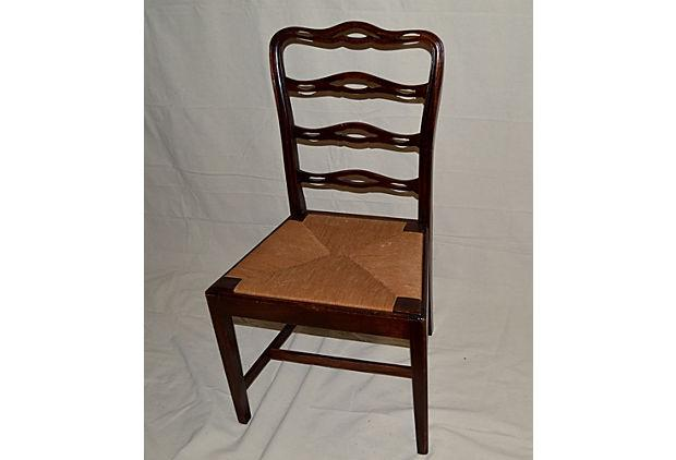 old wooden ladder back chairs antique ladder back wood dining chairs set of 4 chairish 7165